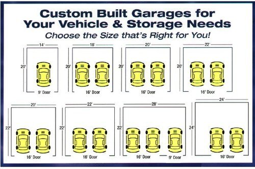 Mccarte garage plans for washington state for How big is a standard garage door